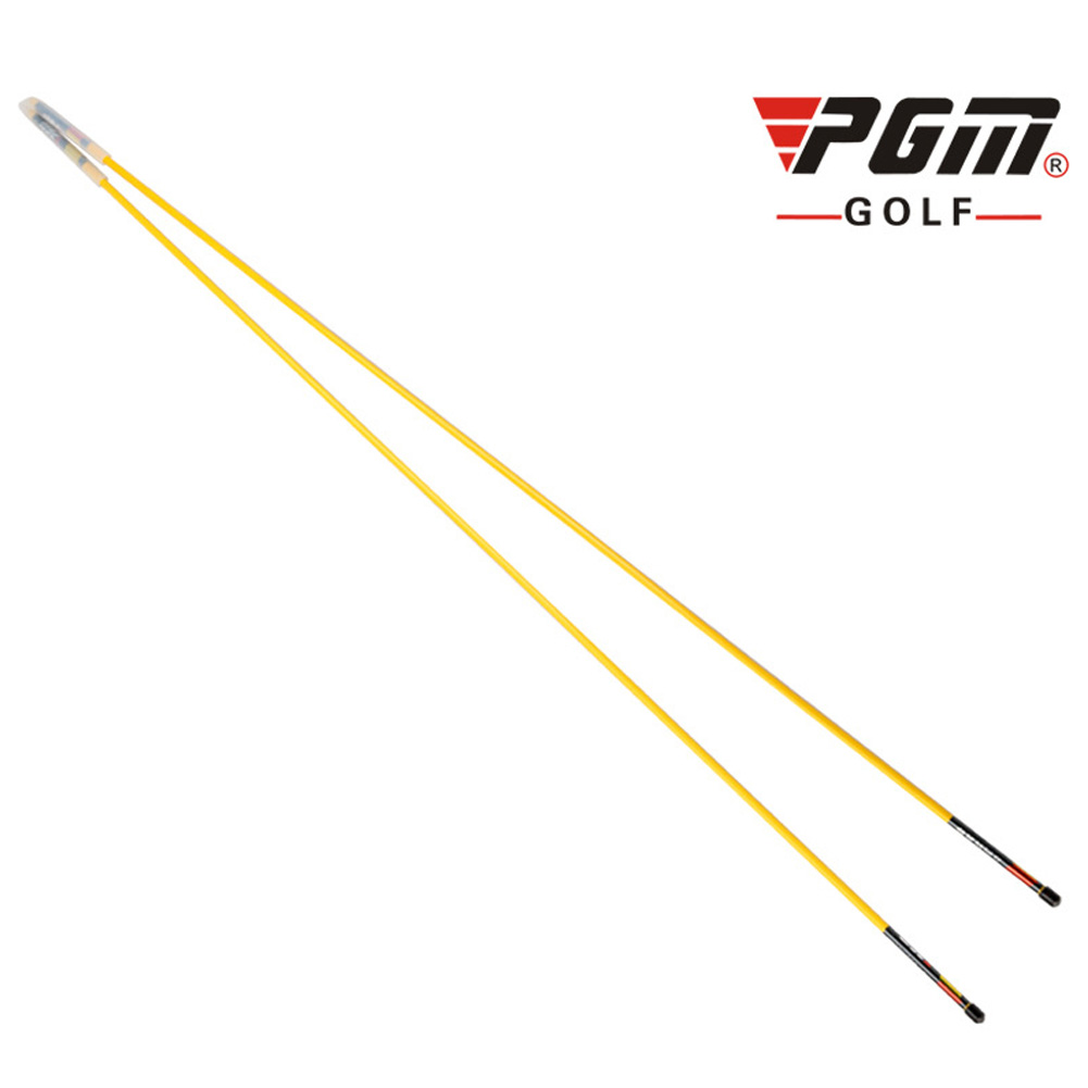 Golf Assist Swing Turn Shoulder Stick Posture Corrector Putting Rod yellow