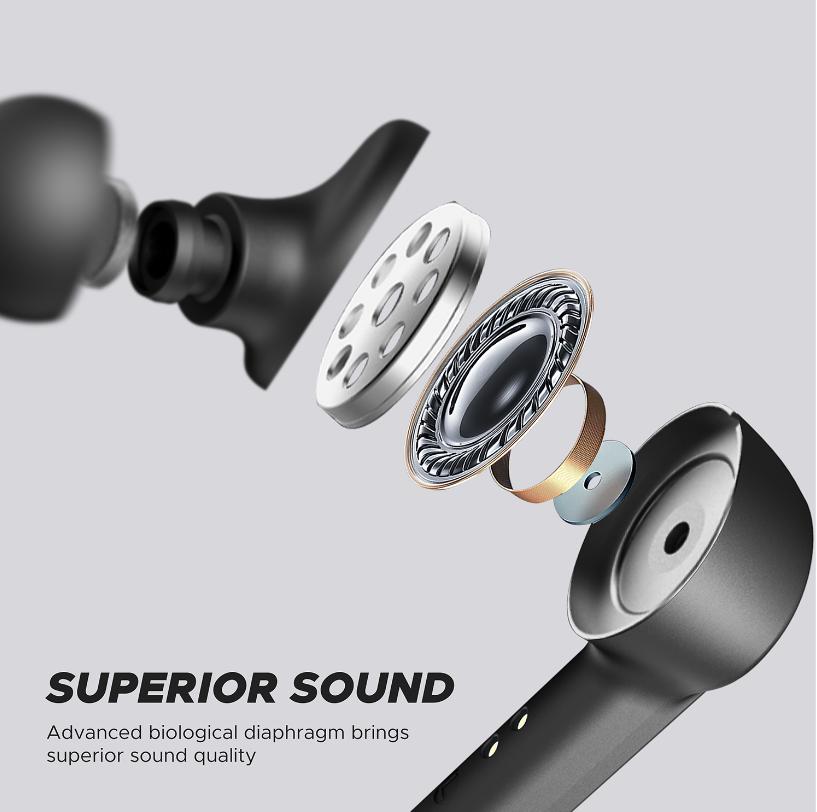 [US Direct] Original SOUNDPEATS TrueCapsule Wireless Earbuds TWS Earphones in-Ear Stereo Earbuds Wireless Headphones with Upgraded Microphone Black