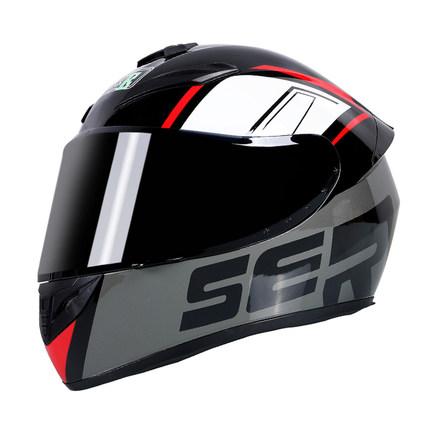 Motorcycle Helmet cool Modular Moto Helmet With Inner Sun Visor Safety Double Lens Racing Full Face the Helmet Moto Helmet Knight Grey SER_M