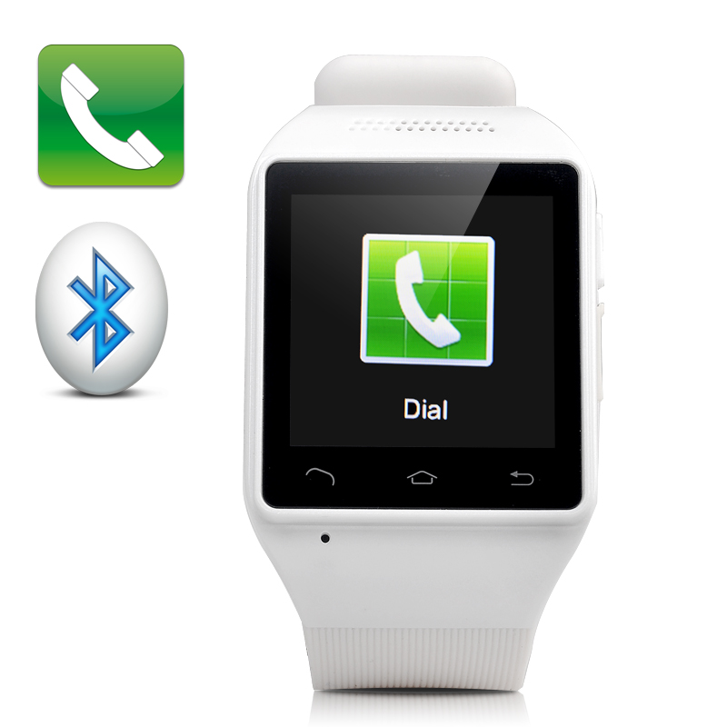 1.54 Inch Touch Screen Watch Phone (White)