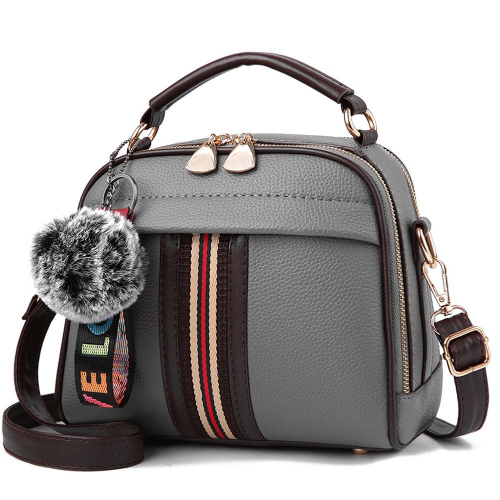 Women Elegant All-match Cute Hairball Single-shoulder Bag