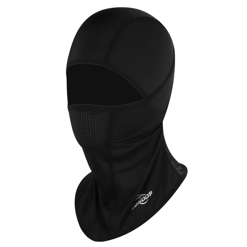 Ice Silk Breathable Motorcycle Full Face Mask Motorcross Dustproof Windproof Outdoor Cycling Unisex RH-A1120 black