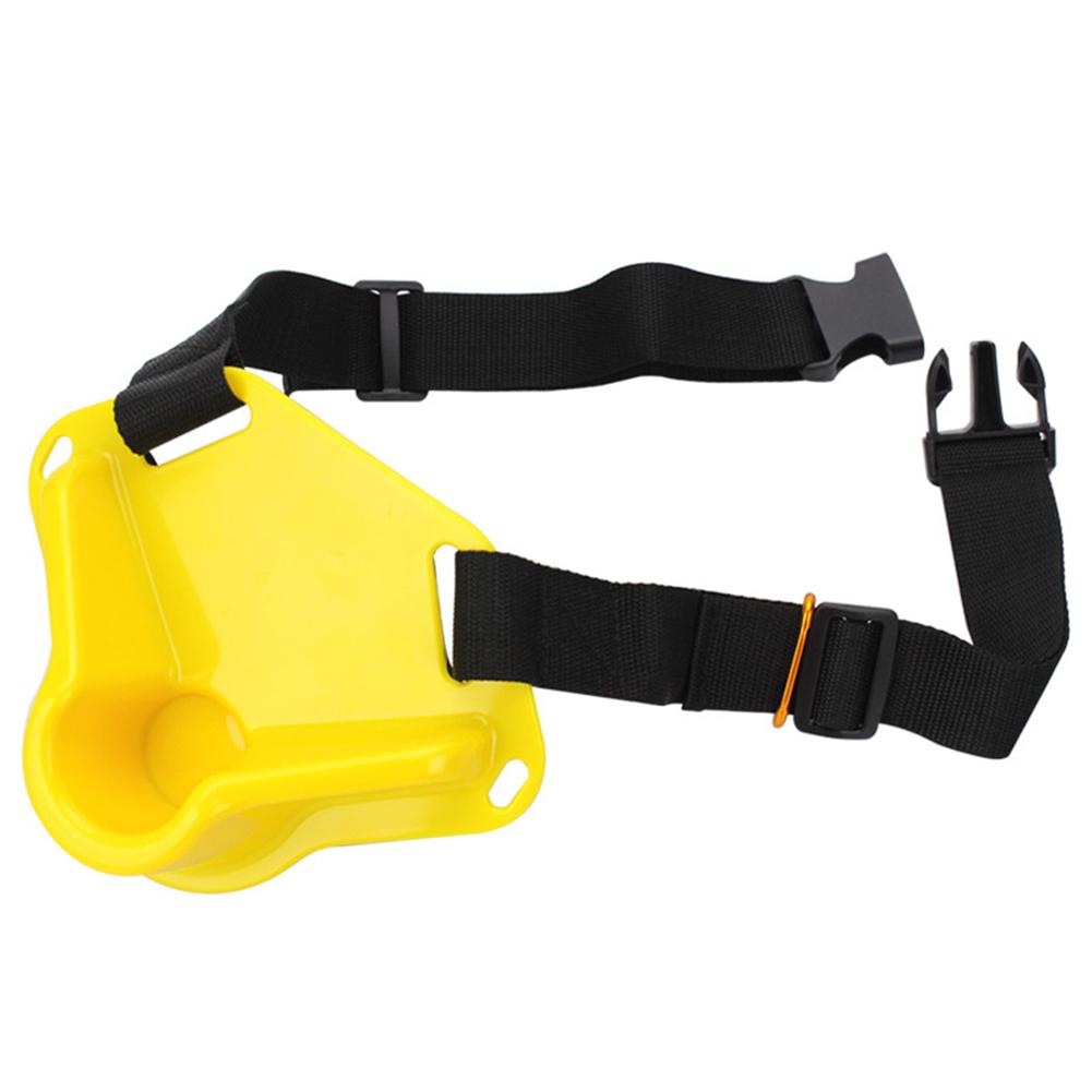 Universal Fishing Belt Belly Protector Oxford Cloth Sea Fishing Rotating Waist Rod  Holder Adjustable Fishing Equipment Yellow