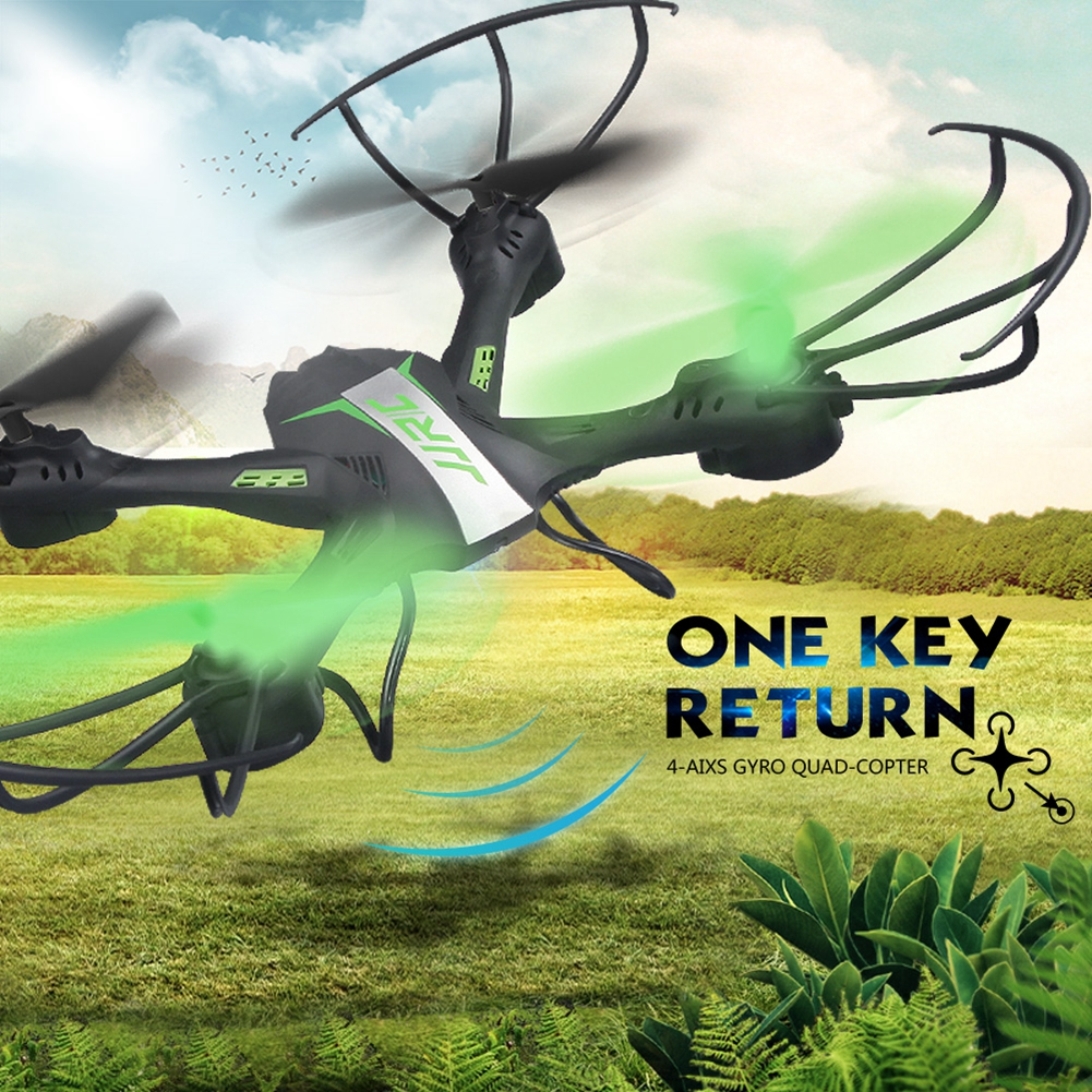 [US Direct] RC Quadcopter 2.4G 6 Axis Gyro Quadcopter with Led lights Headless Mode 360 degree Rolling Drone Black Green