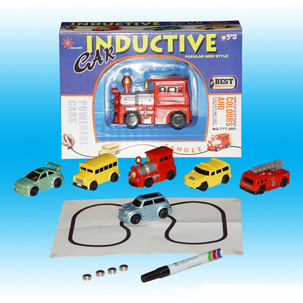 [US Direct] Magic Mini Pen Inductive Toy Vehicles Car Model Follow Any Draw lines Toys For Children Gift
