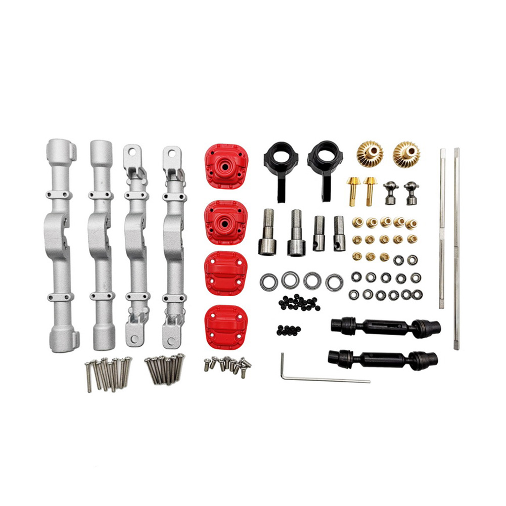 Front Rear RC Car Spare Parts Upgrade Metal Gear Axle Housing Replacement Accessories for MN Model 1:12 D90 D91 99 99S RC Car Silver
