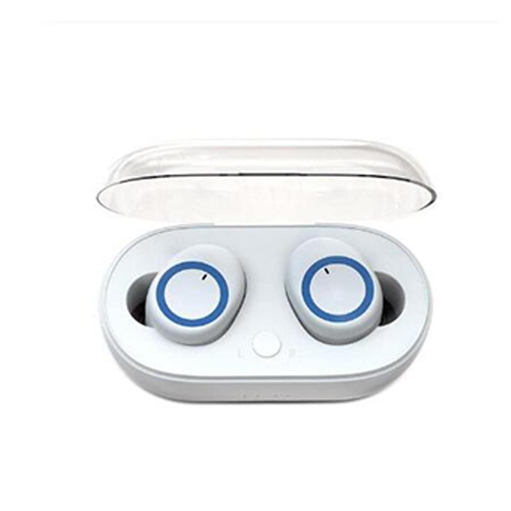 I30 TWS Bluetooth Earphone 5.0 Binaural Stereo In-ear Wireless Headset White and blue