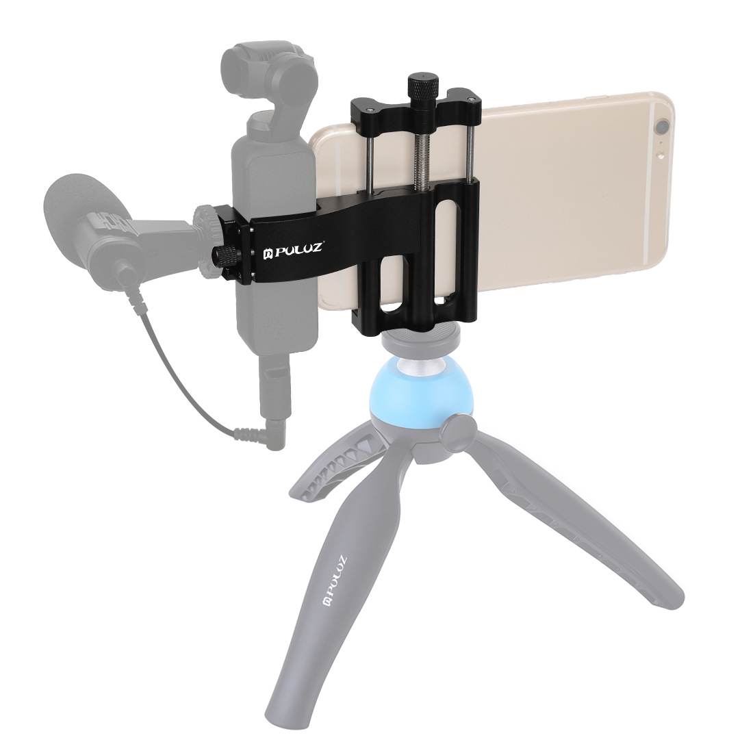 For Dji Osmo Pocket Camera Mobile Phone Holder Mount Set Fixed Stand Aluminum alloy Bracket  black