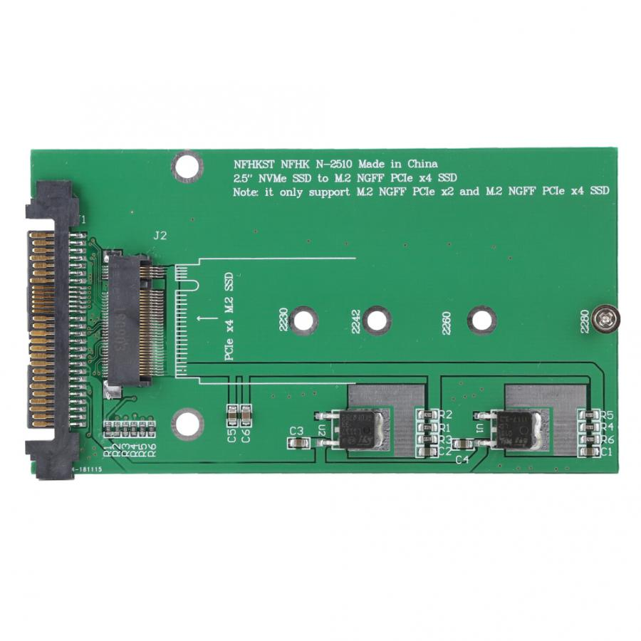 NVME to NGFF key M Converter Expansion Card U.2 to M.2 SFF-8639 PCI-E Adapter Card green