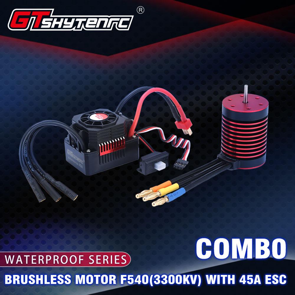 GTSKYTENRC Waterproof Combo 3650  3600KV 5200KV Brushless Motor w//Heat Sink 60A ESC for RC 1/10 RC Car 3600KV+60A