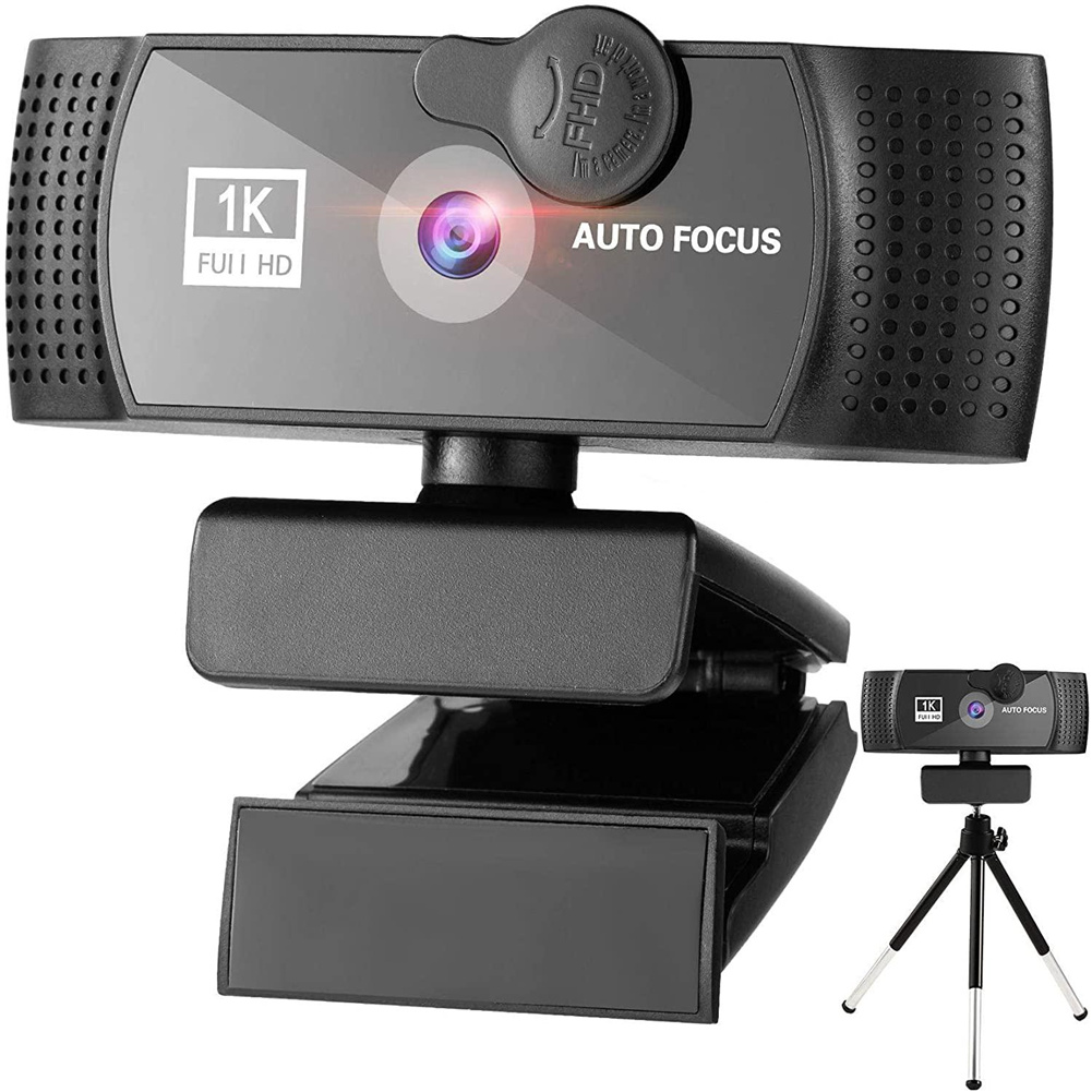 [US Direct] 1080p Full Hd  Camera Professional Video Conference Camera For Home Office With 2 Million Pixel Cmos black