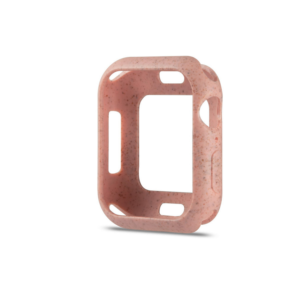 For Apple iWatch 5 Generation Protective Cover Macaron Color Apple Watch 4 Cherry pink_42mm