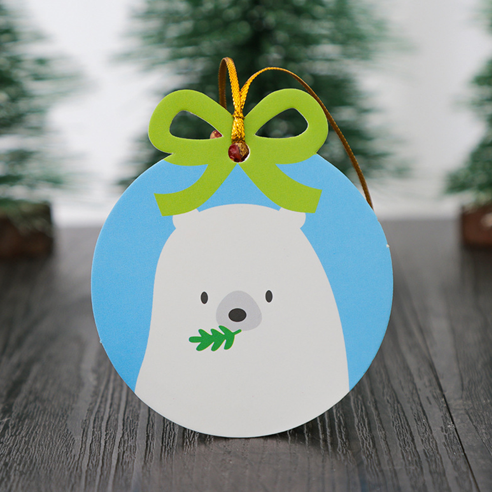 20Pcs Christmas Series Tags Paper Gift Label Baking Wrapping Decorative Greeting Card