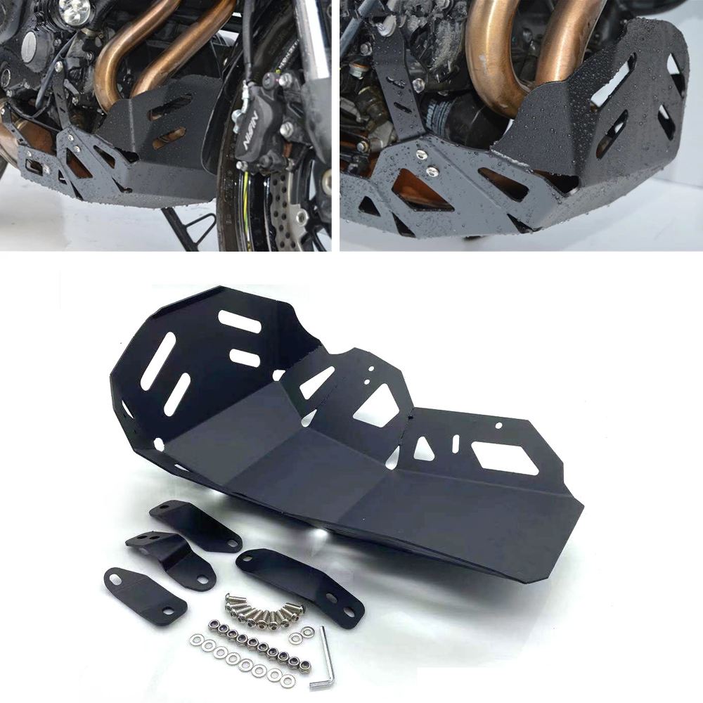 1 Set Aluminum Alloy Motorcycle  Engine  Chassis  Protection  Cover Modification Parts For Versys650 Black