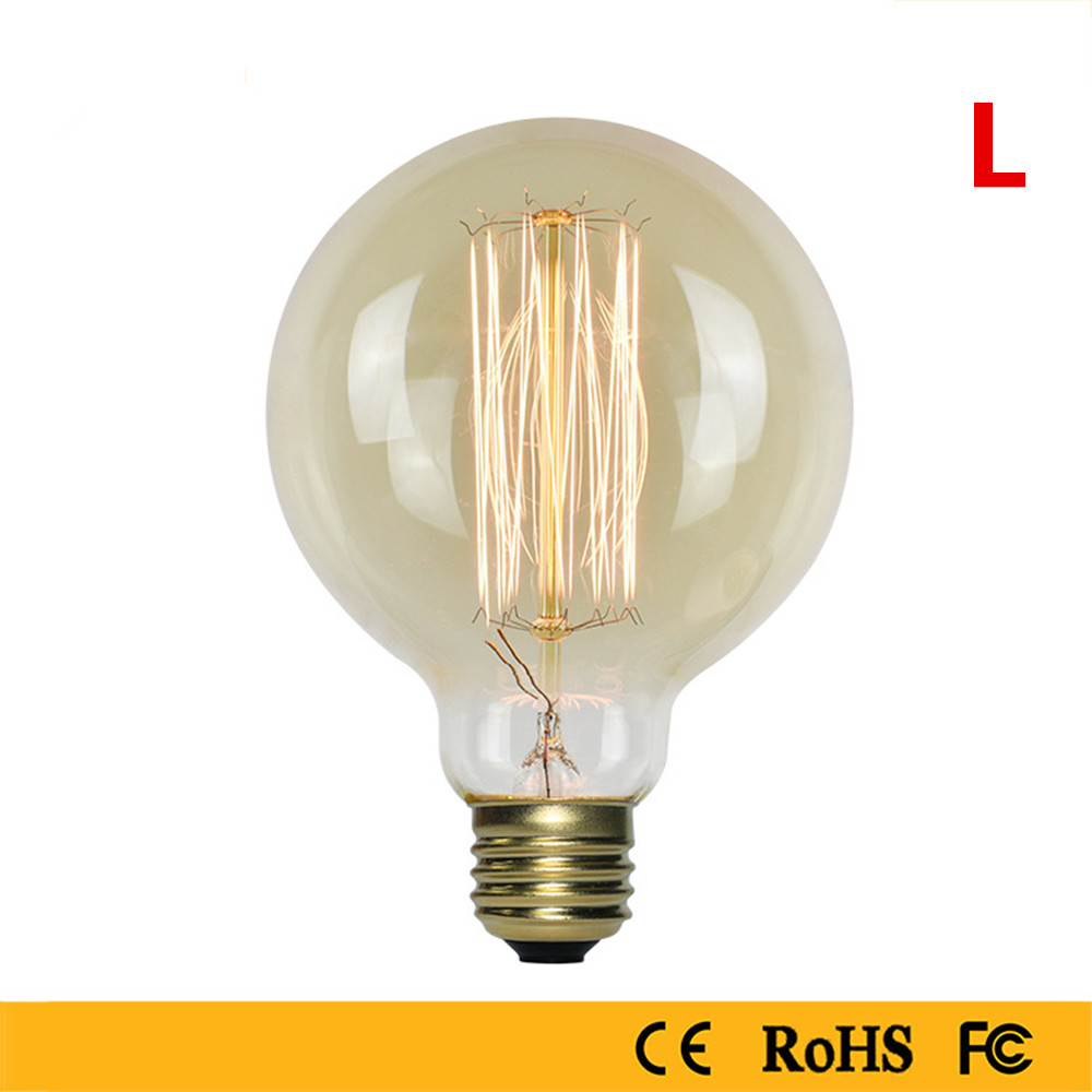 40W Edison Bulb Warm White Light Lamp for Home Study Resturat Lighting 220V