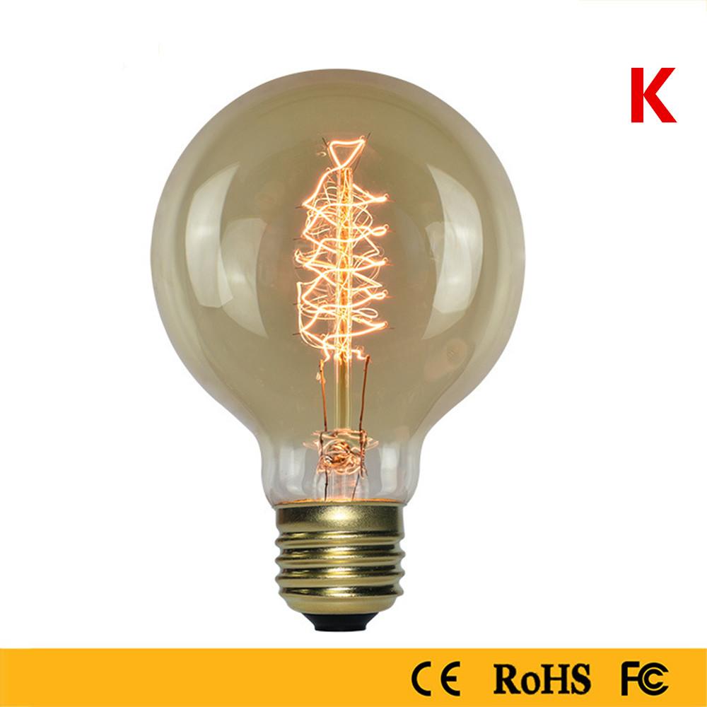 40W Edison Bulb Warm White Light Lamp for Home Study Resturat Lighting 220V
