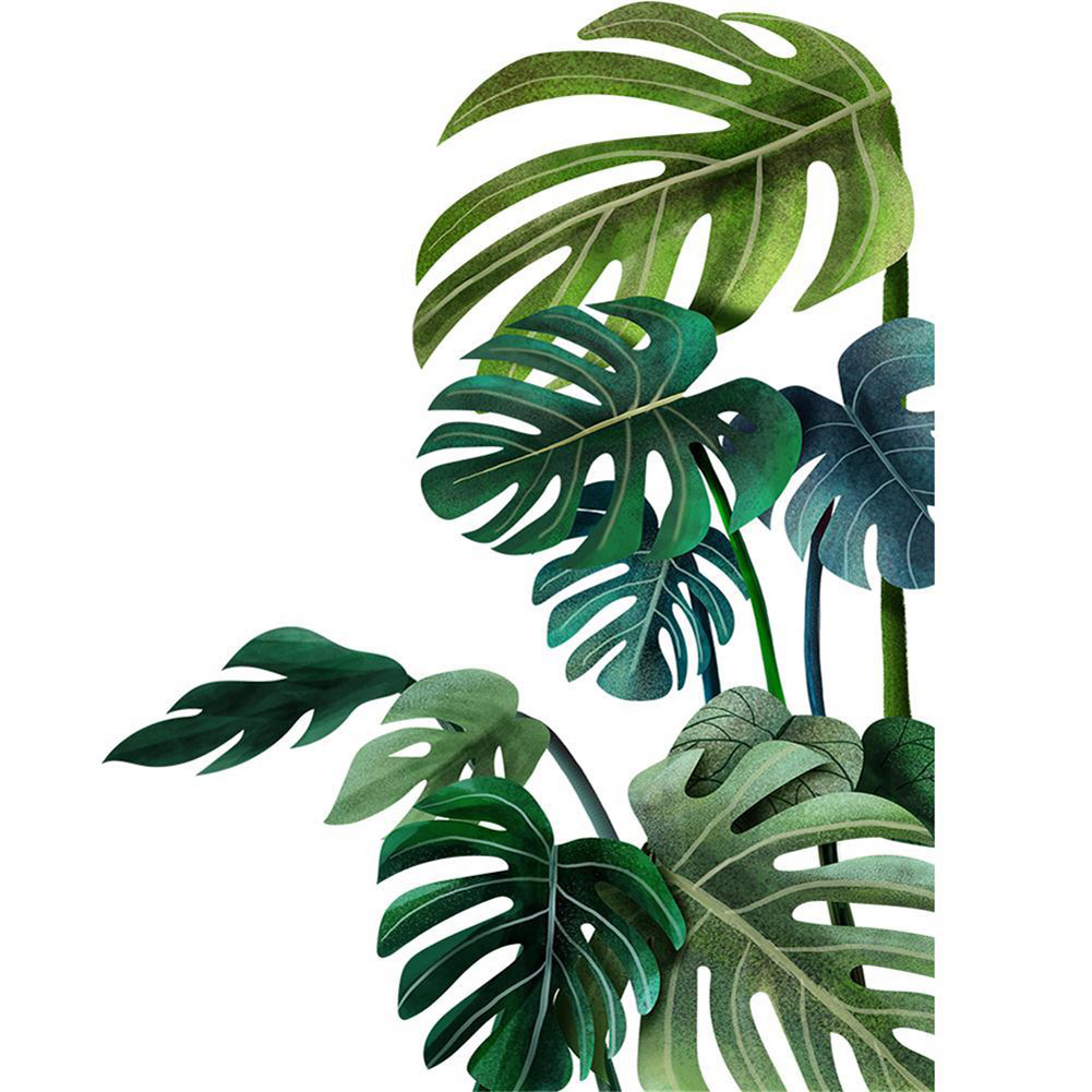 Leaves Pattern Wall Sticker Modern Art Decal Mural for Kids Rooms Home Decor Left