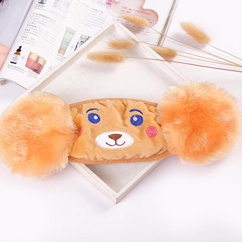 Kid 2-in-1 Warm Mask Earmuffs Cartoon Bear Winter Thicken Plush Riding Outdoor Wear Yellow