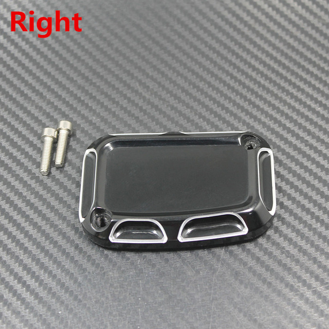 L&R Motorcycle Brake Master Cylinder Cover For  Touring Road King Ultra Tri Street Glide Electra Street V-Rod Night Rod 2017 right