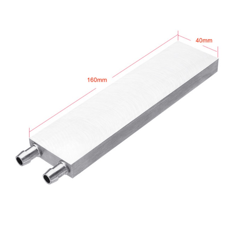 Aluminum Liquid-Water Cooling Block for Computer CPU Radiator for PC And Laptop CPU Heat Sink System 40*160
