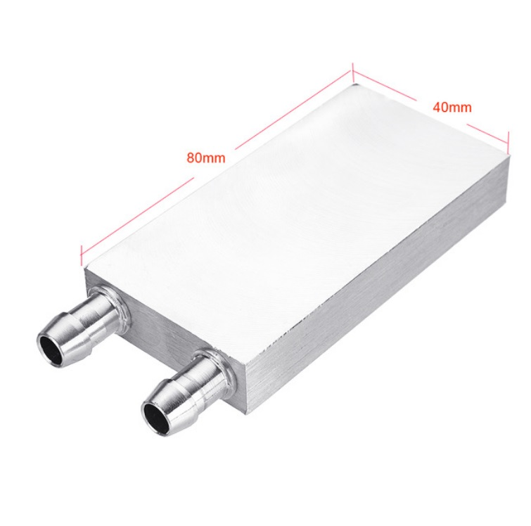 Aluminum Liquid-Water Cooling Block for Computer CPU Radiator for PC And Laptop CPU Heat Sink System 40*80