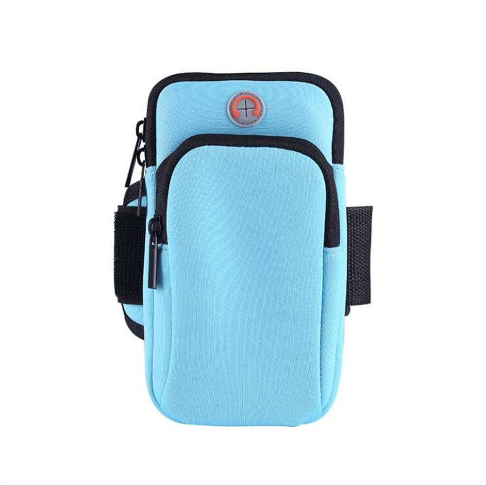 Outdoor Wrist Bag Sports Running Fitness Equipment Mobile Phone Arm Bag blue