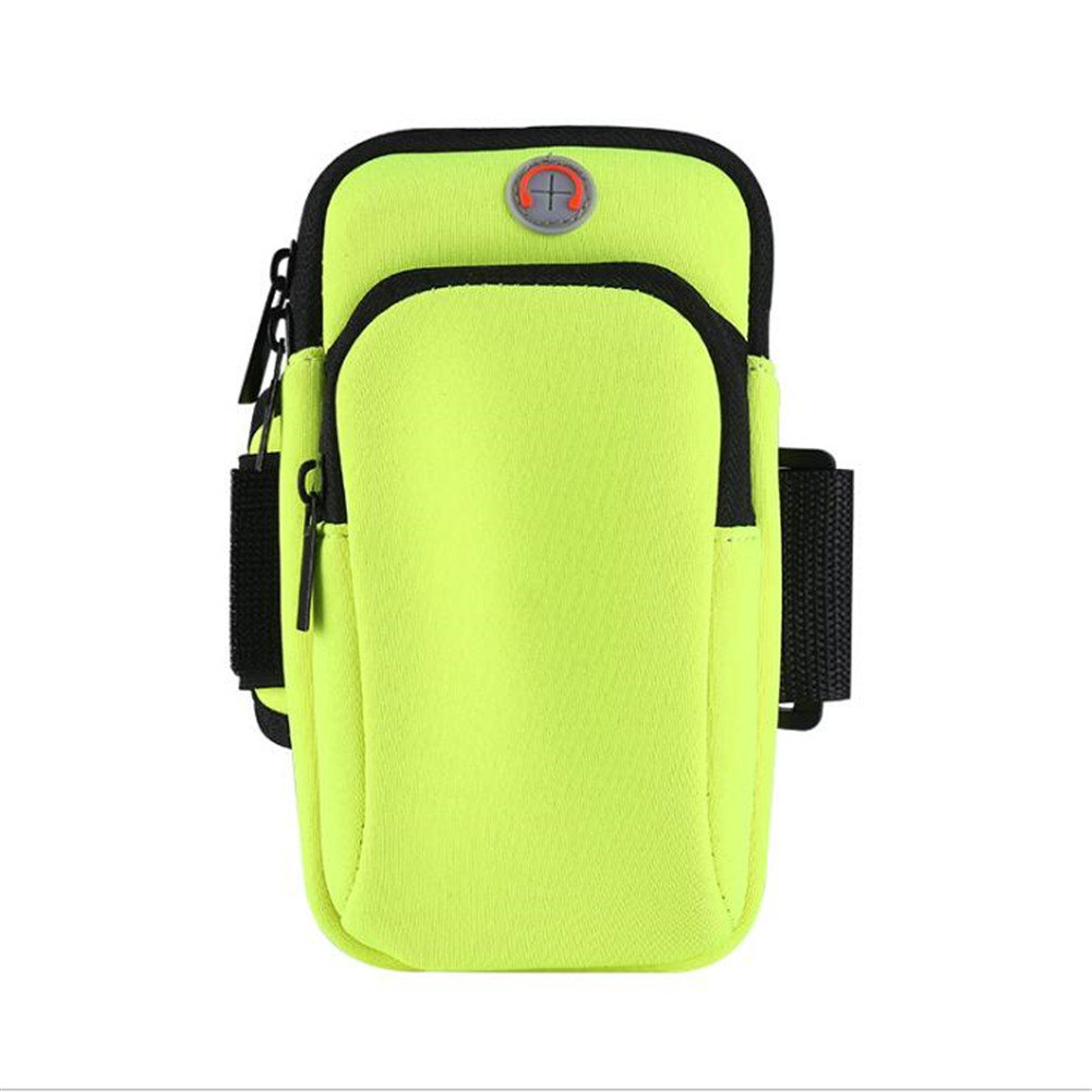 Outdoor Wrist Bag Sports Running Fitness Equipment Mobile Phone Arm Bag green