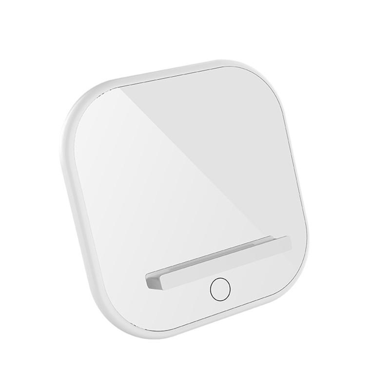 Adjustable Lighting Desktop Night Light Wireless Charger Mobile Phone Holder White