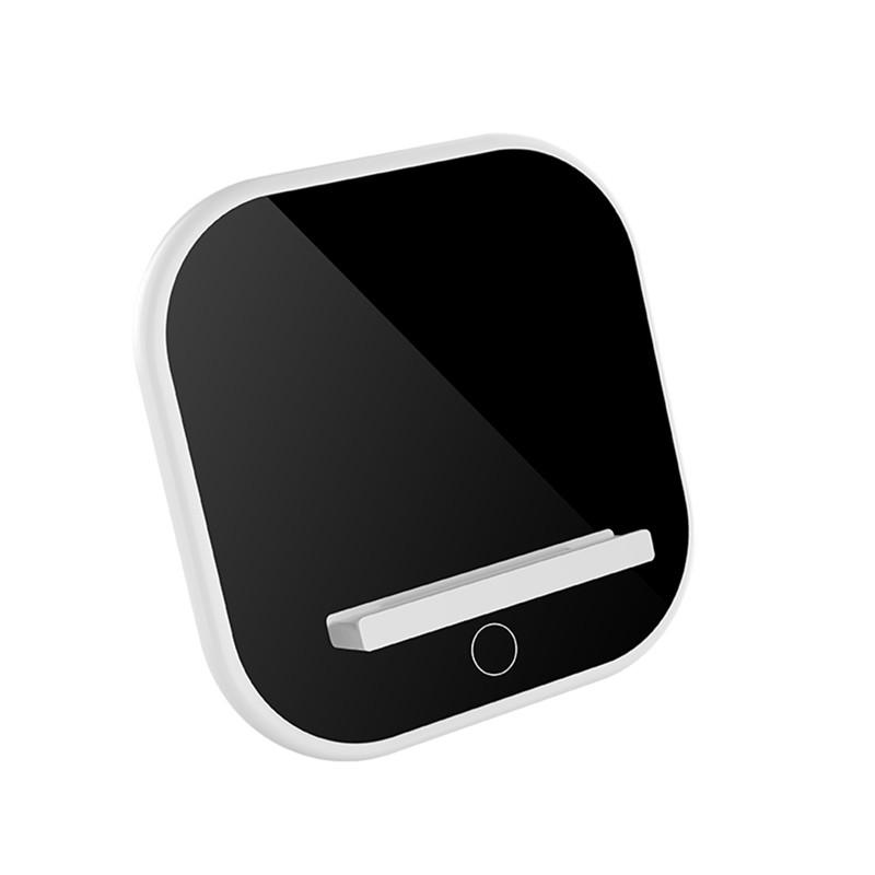 Adjustable Lighting Desktop Night Light Wireless Charger Mobile Phone Holder Black