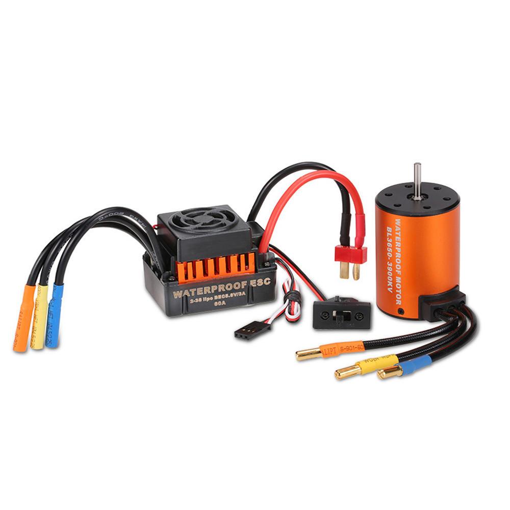 Surpass Hobby Waterproof 3650 4300KV 3900KV 3500KV Brushless RC Car Motor with 60A ESC Set for 1/10 RC Car