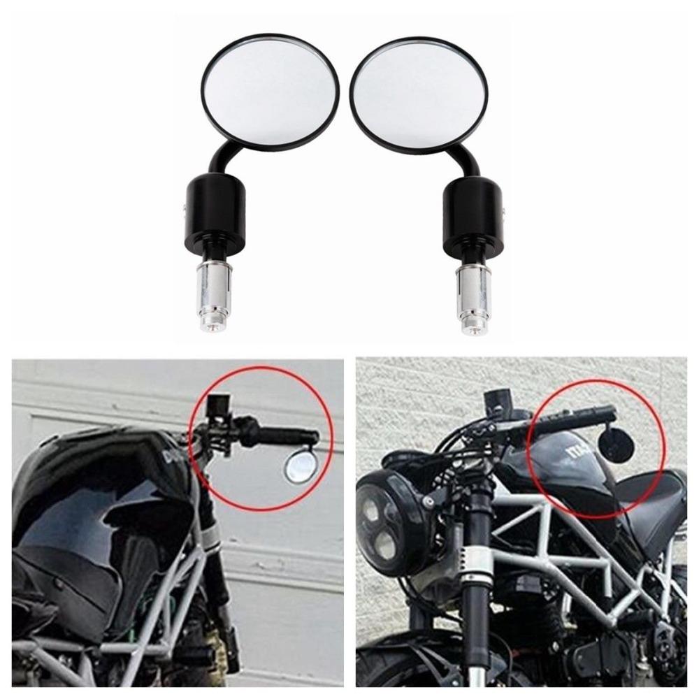 Motorcycle earview Mirror for Kawasaki Yamaha Honda Suzuki Motorcycle Chopper black