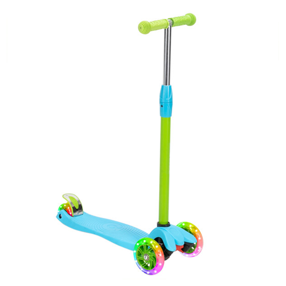 [US Direct] Original LALAHO Toddlers Scooter Non-foldable 3-speed Adjustment Blue Green Color Matching Scooter Blue-green