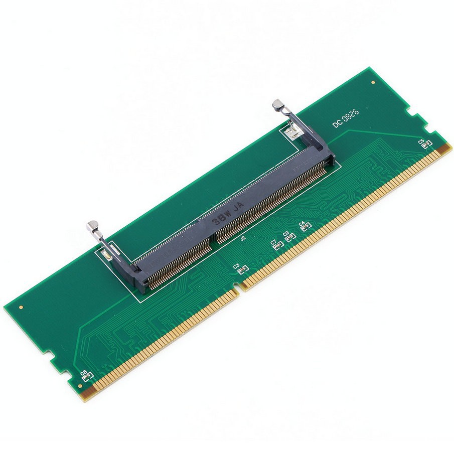 DDR3 Laptop SO-DIMM to Desktop DIMM Memory RAM Connector Adapter  green