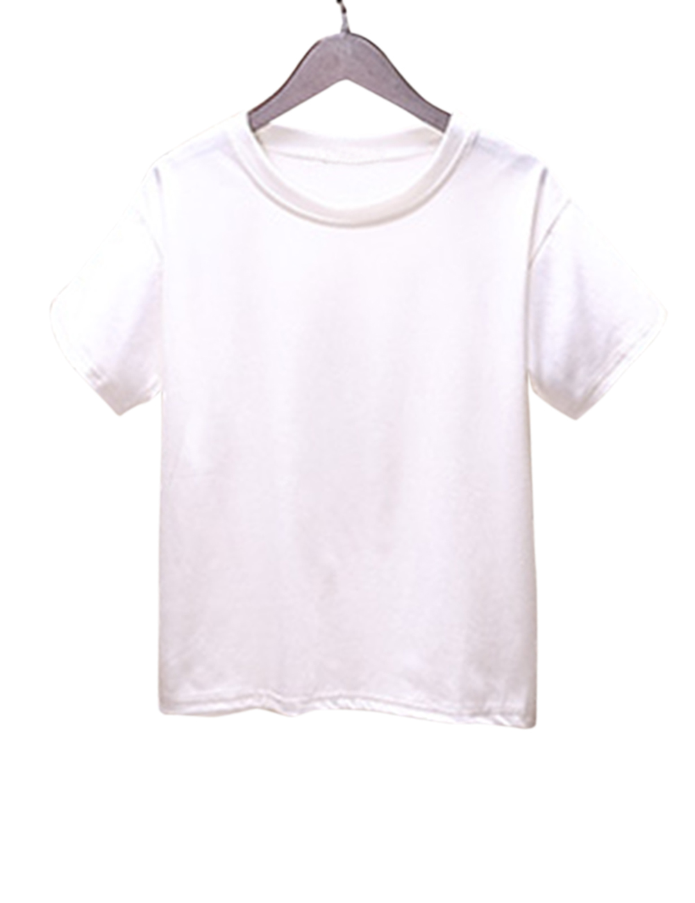 Women Stylish Short-Sleeve Solid Color T-Shirt Casual Round Neck Tops