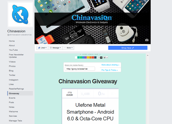 chinavasion gadgets sweepstakes post entry