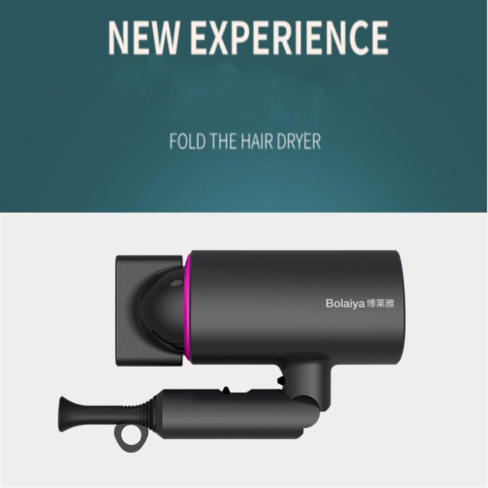 1 Set 110v-220v Jp Plug Blue-ray  Light  Hair  Dryer Hammer Shape Hair Dryer Negative Ion Care Hair Dryer Gray