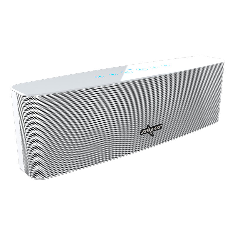 Original ZEALOT S12 Bluetooth Speaker with Mic - White