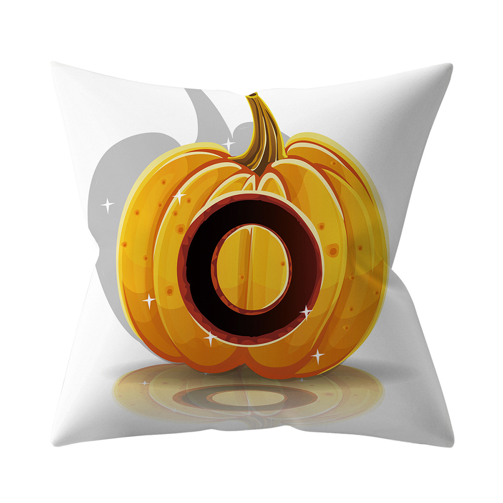 Halloween Series Letter Printing Throw Pillow Cover for Home Living Room Sofa Decor O_45*45cm