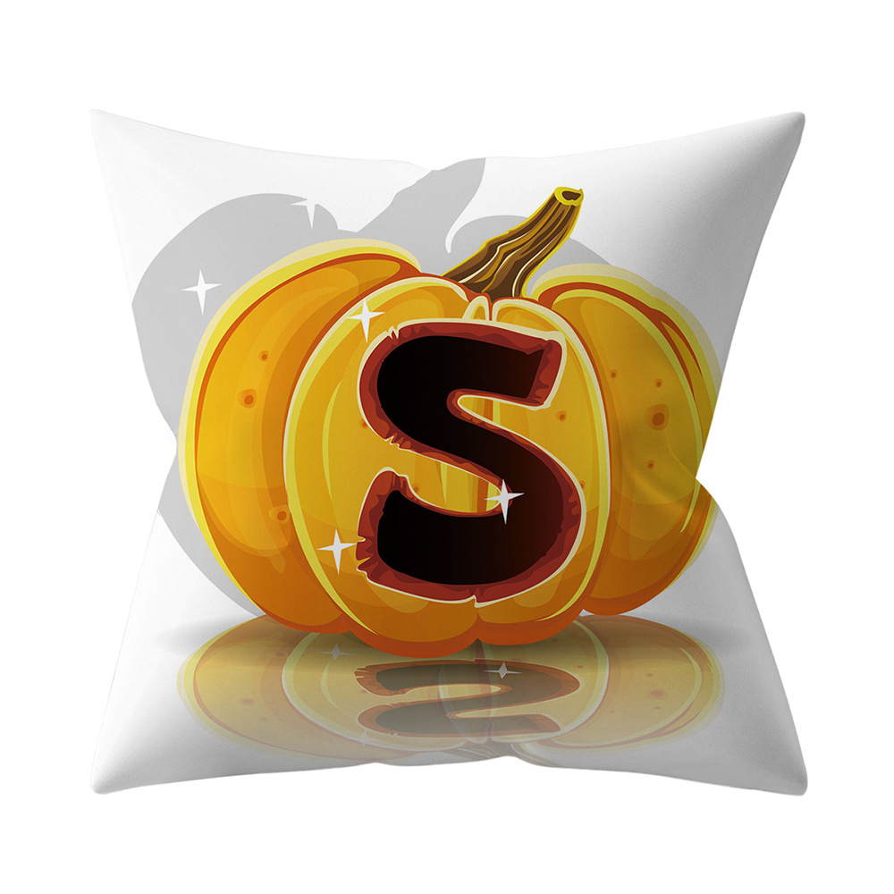 Halloween Series Letter Printing Throw Pillow Cover for Home Living Room Sofa Decor S_45*45cm
