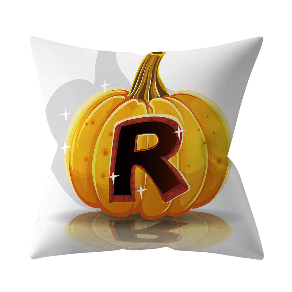 Halloween Series Letter Printing Throw Pillow Cover for Home Living Room Sofa Decor R_45*45cm