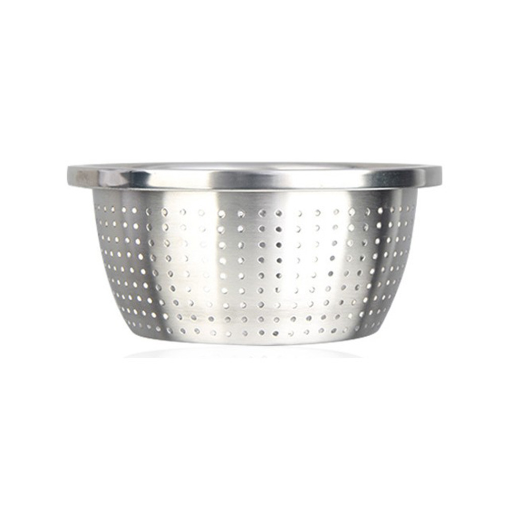 Thicken Colander Strainer Basin Cooker Utensil Mixing Bowl Kitchen Tool Rice Sieve Fruit Washing 304 stainless steel rice sieve