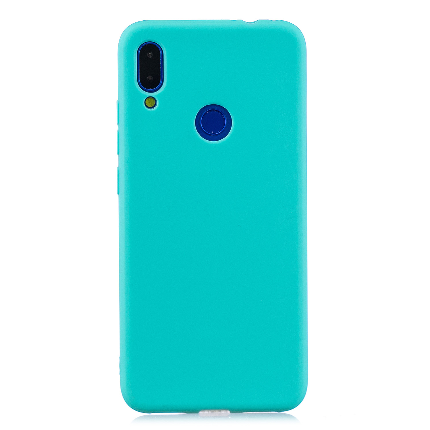 For Redmi 7 Lovely Candy Color Matte TPU Anti-scratch Non-slip Protective Cover Back Case Light blue
