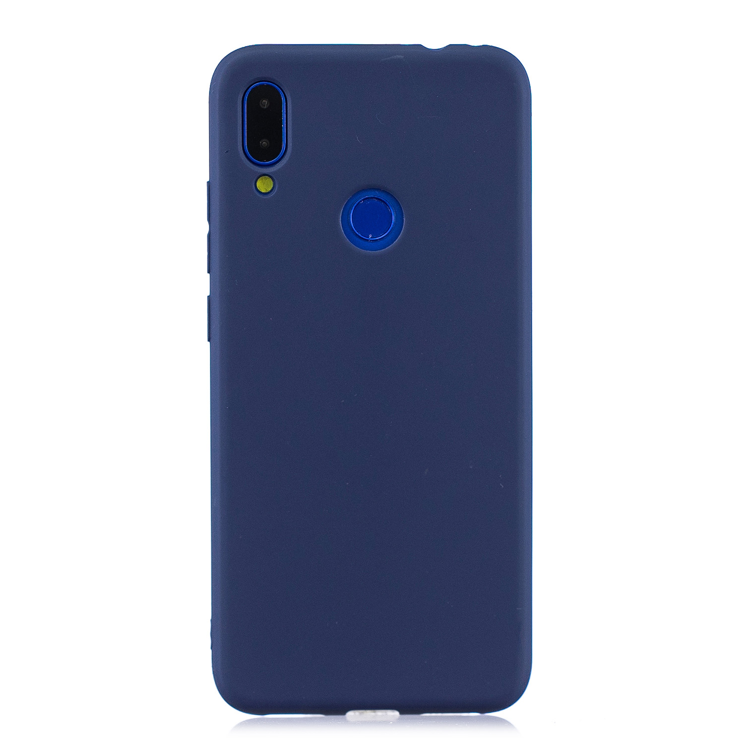 For Redmi 7 Lovely Candy Color Matte TPU Anti-scratch Non-slip Protective Cover Back Case Navy