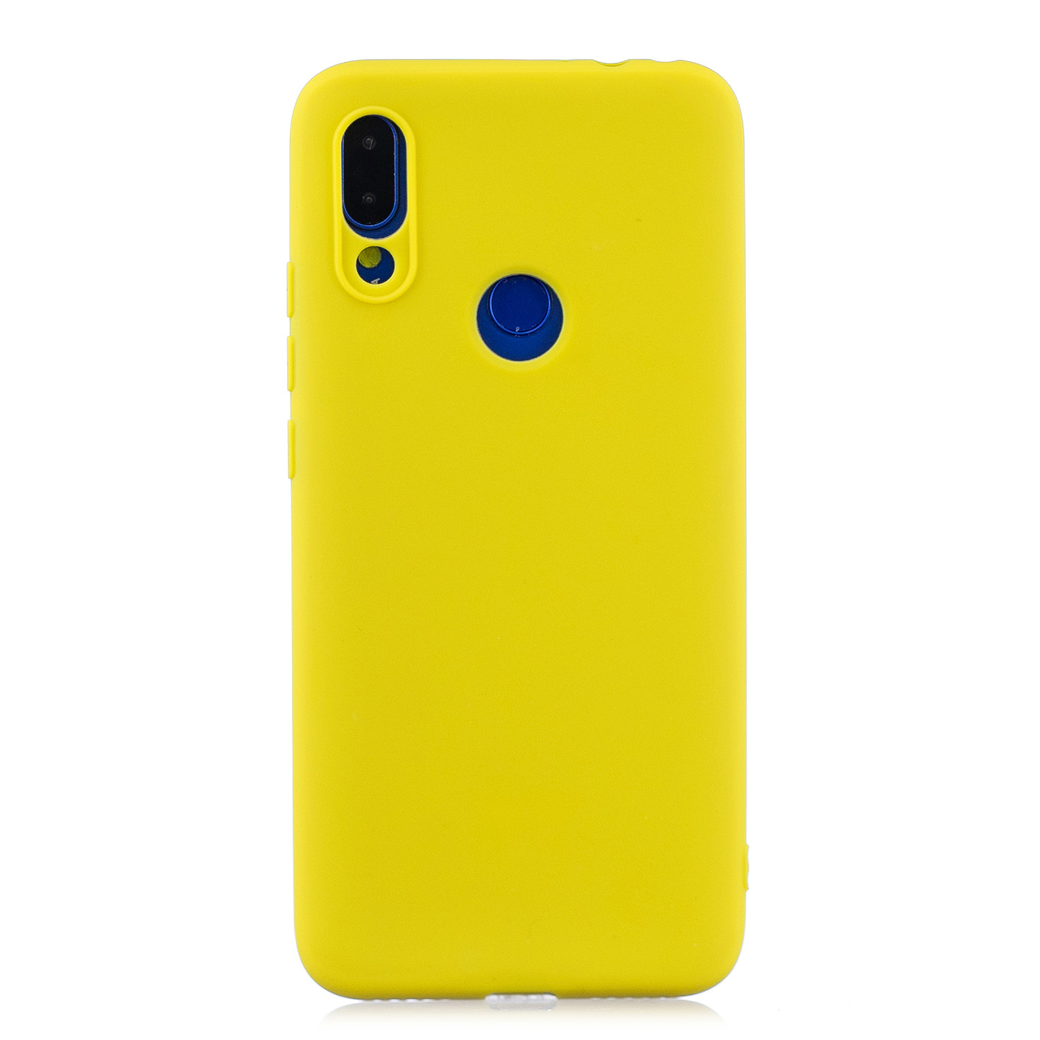 For Redmi 7 Lovely Candy Color Matte TPU Anti-scratch Non-slip Protective Cover Back Case yellow