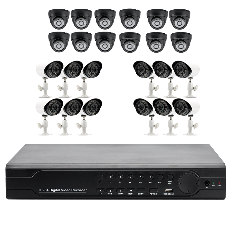 24 Channel Security Surveillance DVR Kit