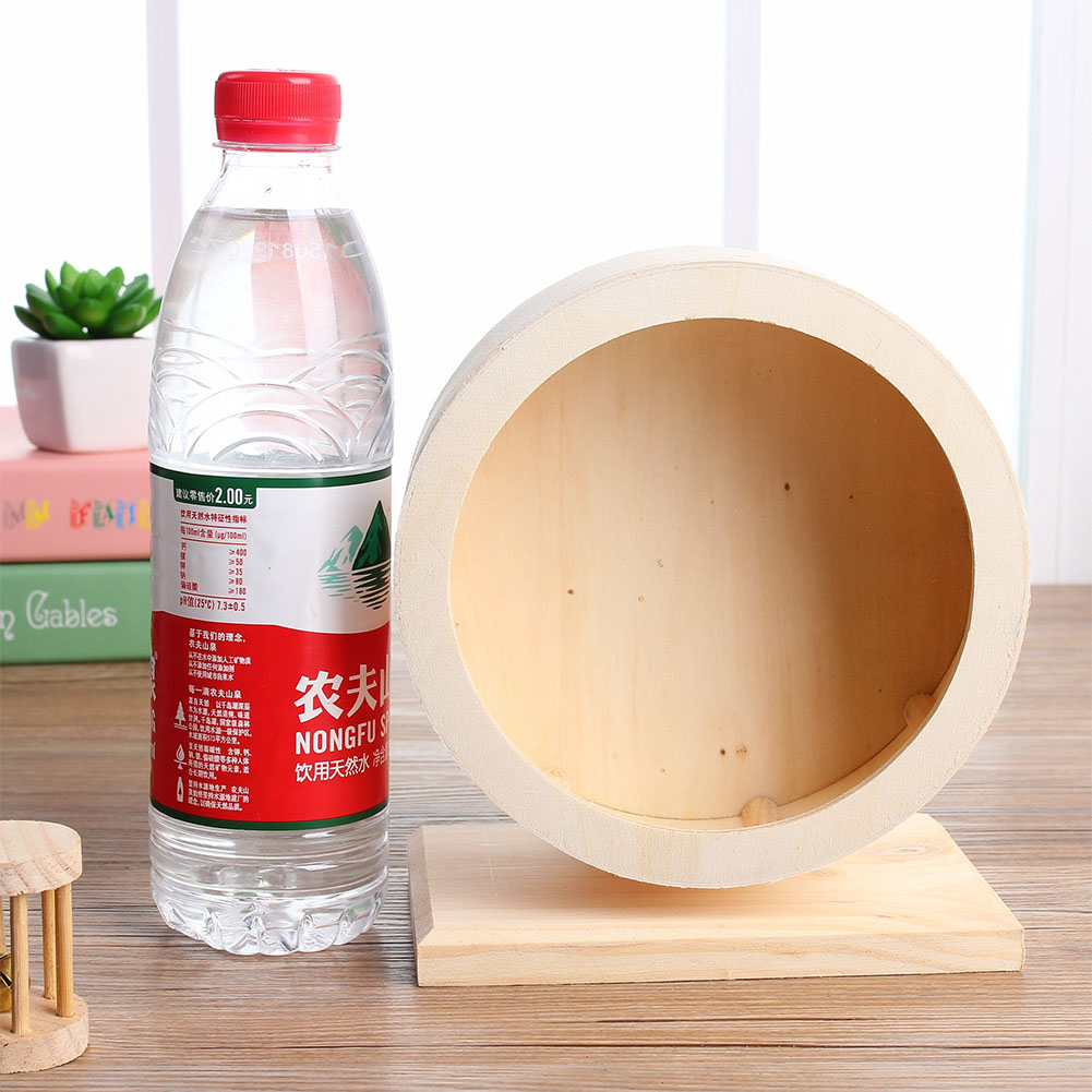 Comfort Exercise Wheel Hamster Golden Retriever Hedgehog Chinchilla Natural Wood Stand Silent Running Wheel Medium paper box [21cm diameter]