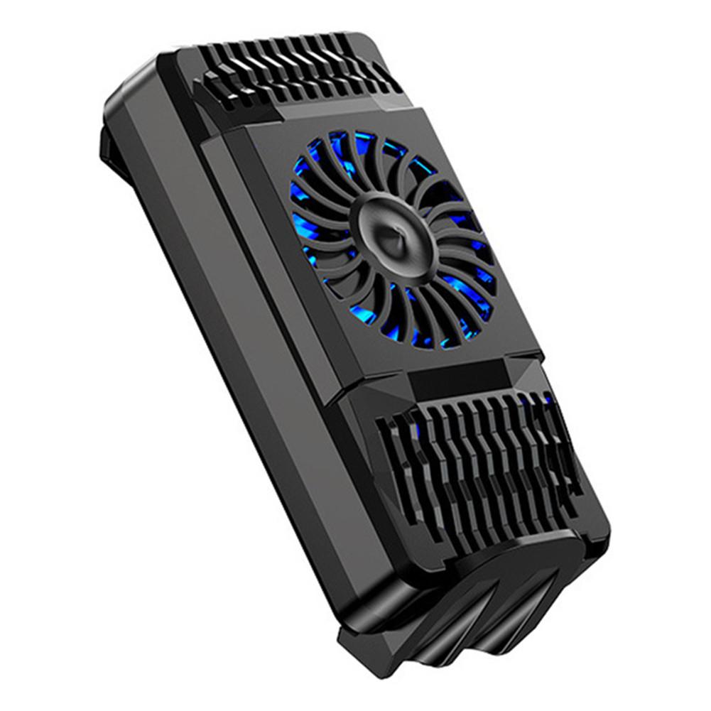 Mobile Phone Radiator Cooling Fan Handle Bracket Game Radiator black