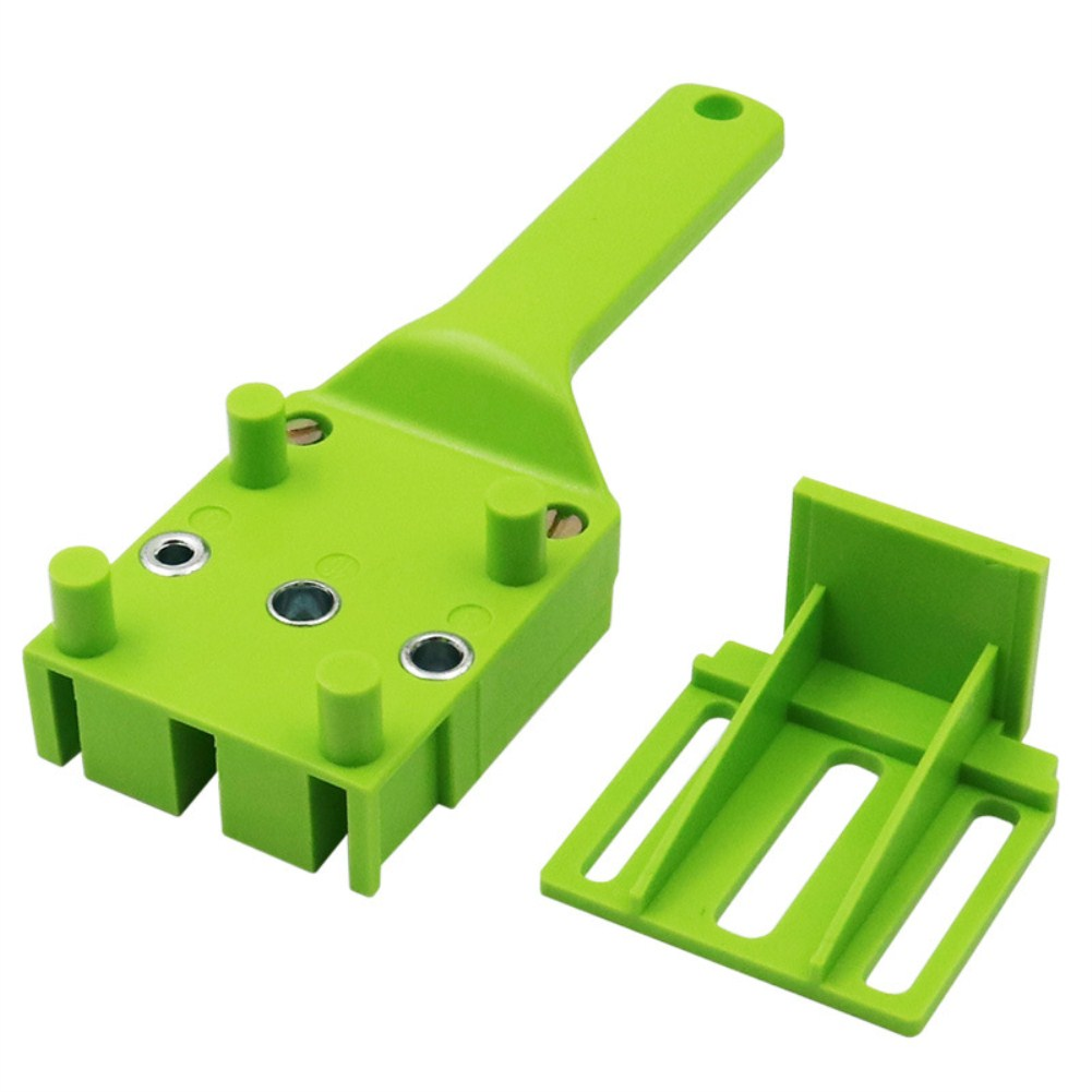 Handheld Pocket Self-Centering Puncher Drill Locator Woodworking Puncher Guide green