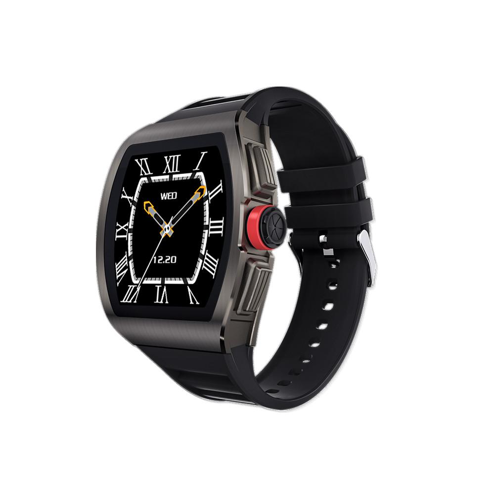 M1 Business Smart Watch Man Waterproof Smartwatch Heart Rate Blood Presssure Monitor Sports Track Clock Gray