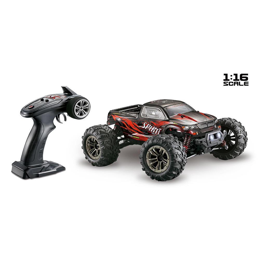 XINLEHONG TOYS RC Car 9135 2.4G 1/16 4WD 36km/h Electric RTR High Speed SUV Vehicle Model Radio Remote Control Toy red